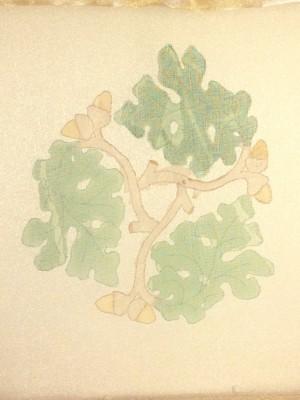 Oak leaves design ready to stitch