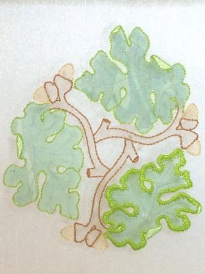 First oak leaf