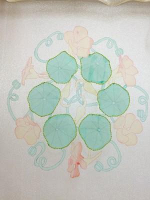 Outlined nasturtium leaves