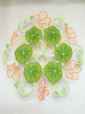 The finished nasturtium leaves