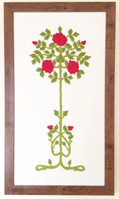 Ruskin Roses - full panel